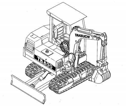 Takeuchi TB800 Compact Excavator Parts Manual Download