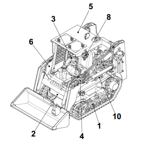 Takeuchi TL250 Crawler Loader Parts Manual Download