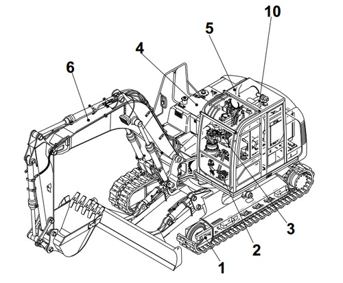 Takeuchi TB1140 Hydraulic Excavator Service Repair Manual
