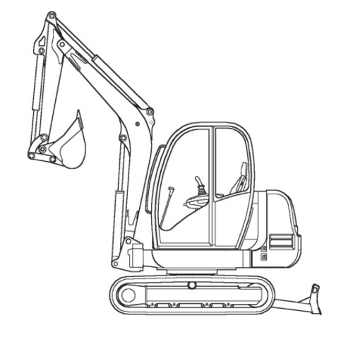 Free Gehl GE353 & 373 Compact Excavators Illustrated