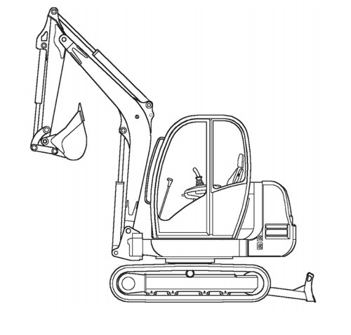 Gehl 602 Compact Excavator Illustrated Master Parts List