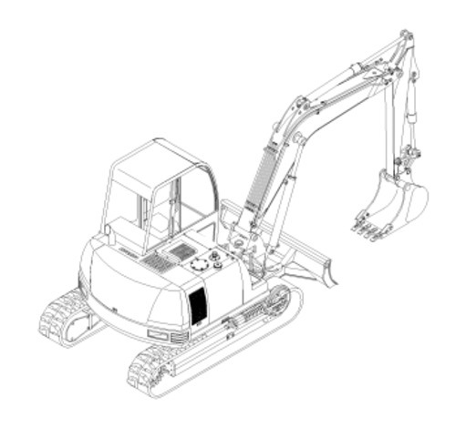 Gehl 802 Mini Excavator Illustrated Master Parts List