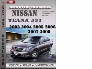 Nissan teana j31 owners manual