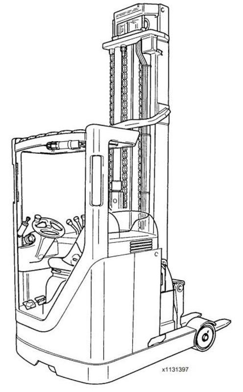 Linde Reach Truck 113 Ser. Electrical Schematic R14/R16