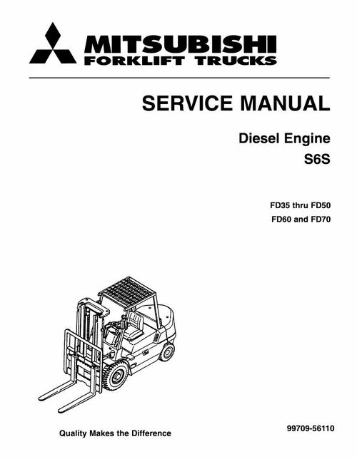 Mitsubishi S6S, S6S-T Diesel Engine Service Repair Manual