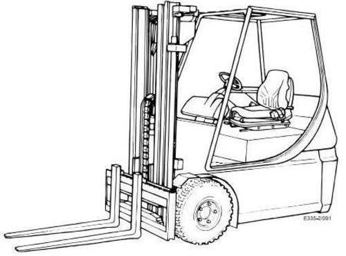 Free Linde Diesel Forklift Truck 353-03 Series: H50, H60