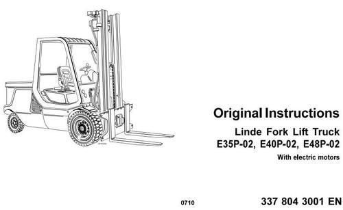 Linde Electric Forklift Truck E35P-02, E40P-02, E48P-02