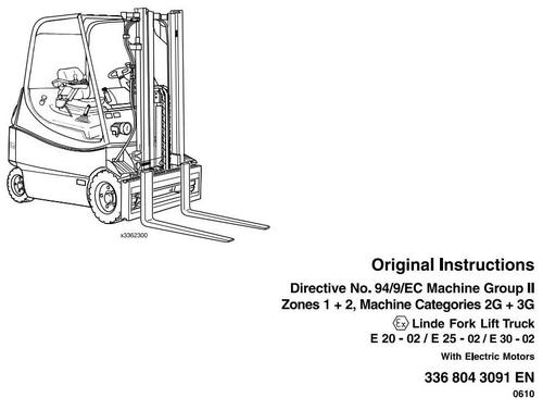 Linde Electric Lift Truck 336-02 Series Explosion