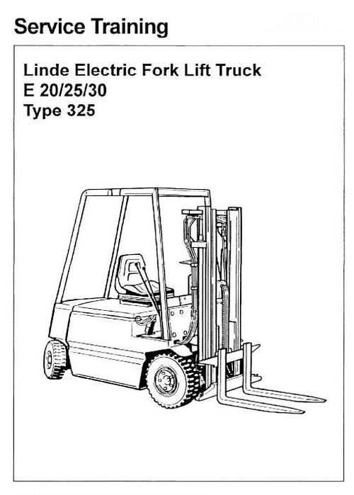Free Linde Electric Forklift Truck 336 Series: E20, E25