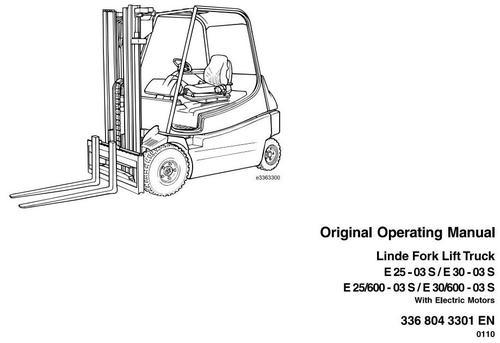 Linde Electric Forklift Truck 336-03 series: E25, E30, E25