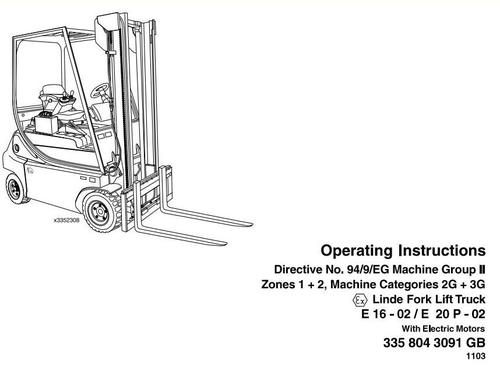 Linde Electric Forklift Truck 335 Series Explosion