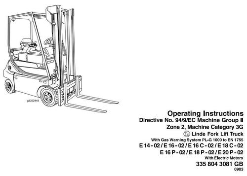 Linde Explosion Proof Electric Lift Truck 335-02 Series