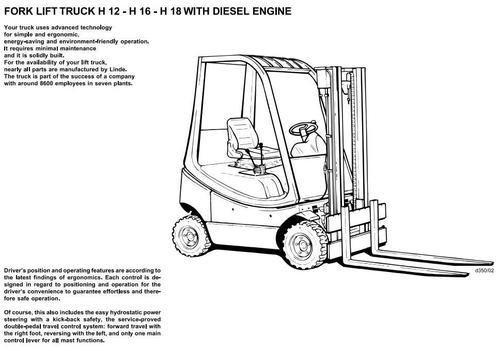 Free Linde Diesel Forklift Truck 393 Series: H25D, H30D