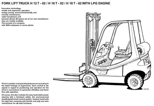 Free Linde Fork Lift Truck 335 Series 02: E14-02, E16-02