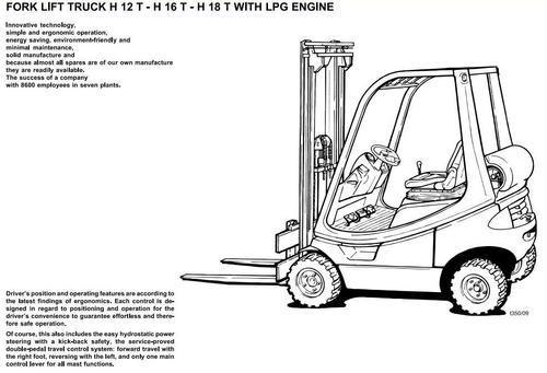 Linde LPG Forklift Truck 350 Series: H12, H16, H18