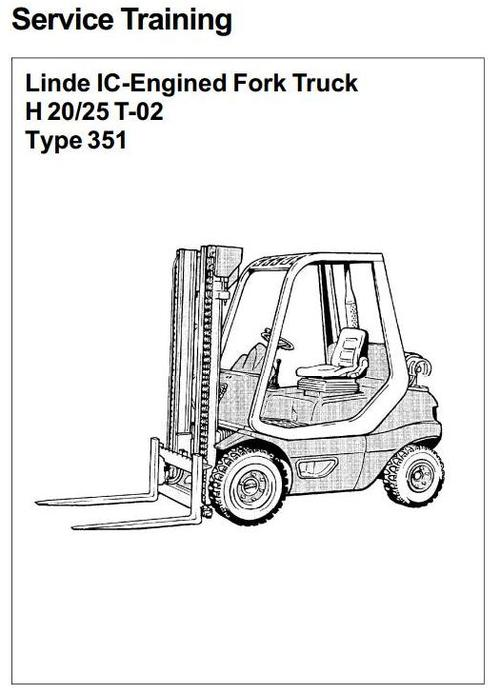 Linde IC-Engined Forklift Truck 351-02 Series: H20, H25