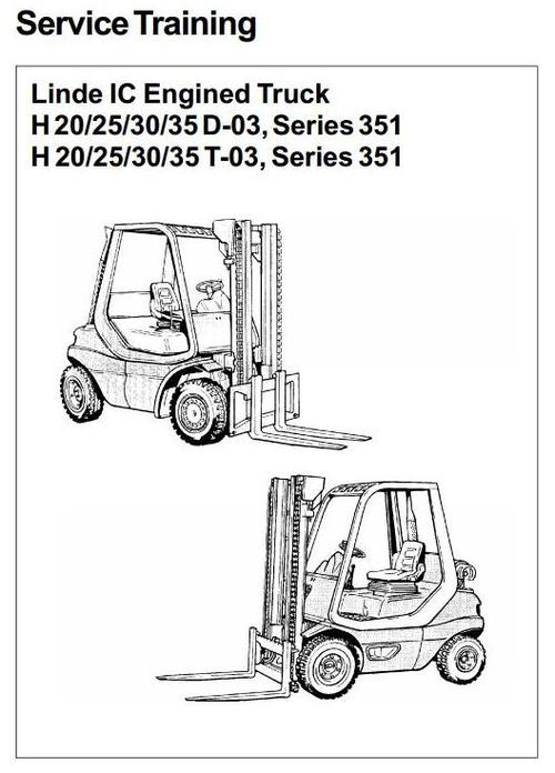 Linde IC-Engined Forklift Truck H351-03 Series: H20, H25