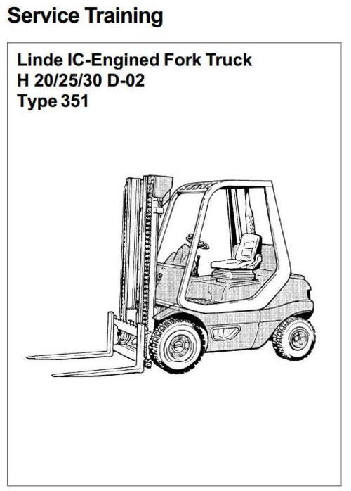 Linde Diesel Forklift Truck 351-02 Series H20, H25, H30