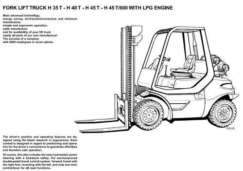 Linde LPG Forklift Truck 352 Series: H35, H40, H45