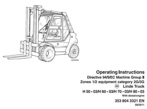 Linde Diesel Forklift Truck 353-03 Explosion Protected