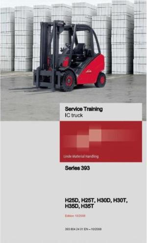 Linde Forklift Truck 393 Series: H25, H30, H35 Service