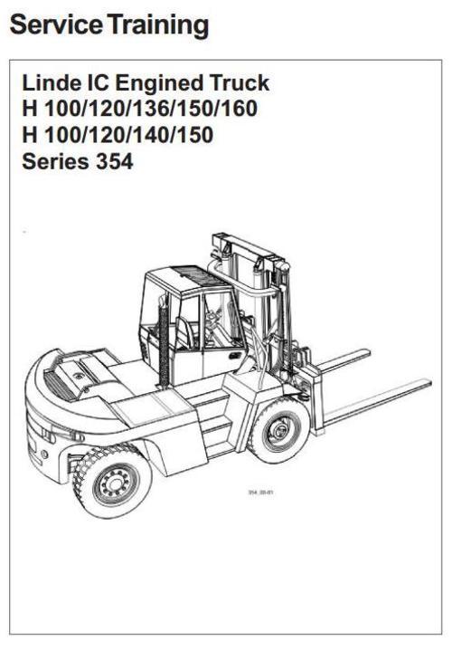 Linde Forklift Truck H354 Series: H100, H120, H136, H140