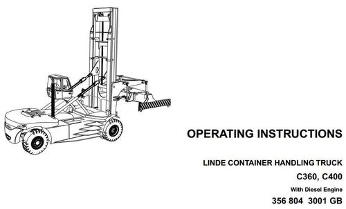 Linde Container Handler Type 356: C360, C400 Operating