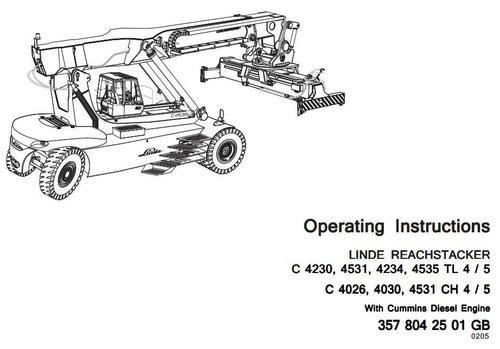 Linde Truck Type 357-02, 357-03: C4026, C4030, C4230