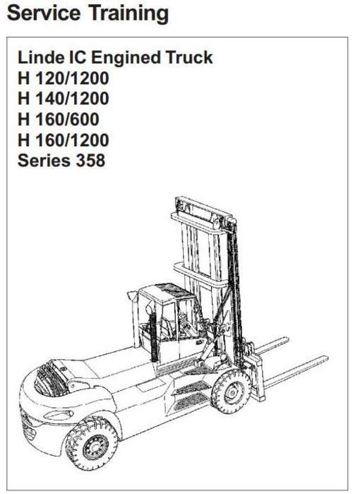 Linde Forklift Truck Type 358: H120-1200, H140-1200, H160