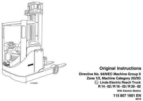 Linde Electric Reach Truck Type 115-02 Explosion Protected