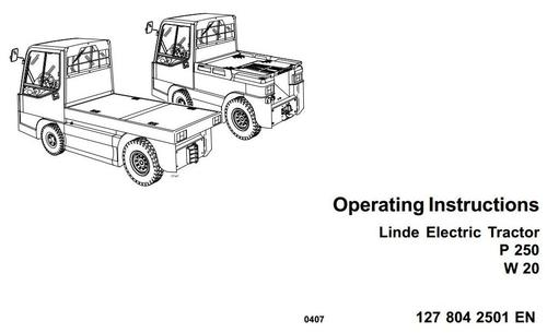Linde Electric Tractor Type 127: P250, W20 Operating