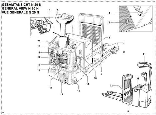 Linde Electric Order Picker Type 145: N20N Operating