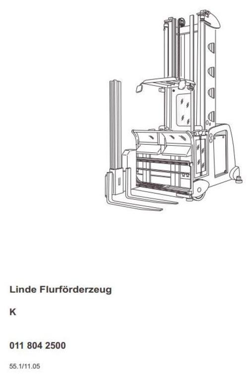 Linde Truck Type 011: K From 11.2005 Operating