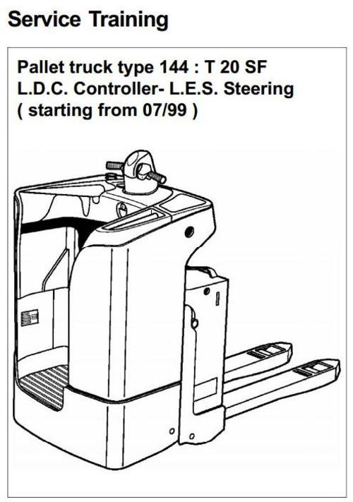 Linde Pallet Truck Type 144: T20SF Service Training