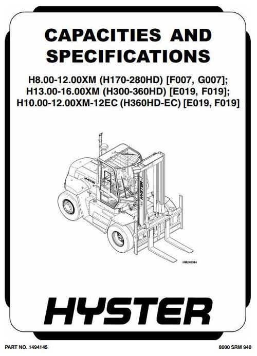 Free hyster manual Download