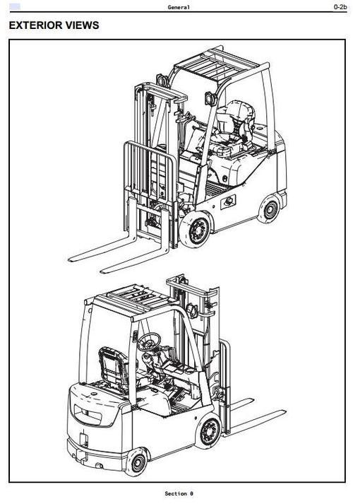 Toyota Diesel Forklift 8FDU15, 8FDU18, 8FDU20, 8FDU25