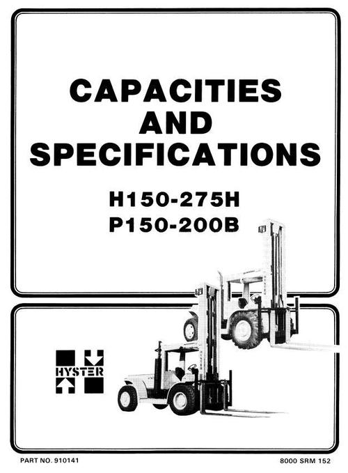 Hyster Forklift Truck Type C007: H150H, H165H, H180H