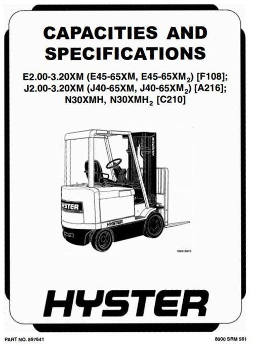 Free Hyster s25-35xl h25-35xl Forklift Service Repair
