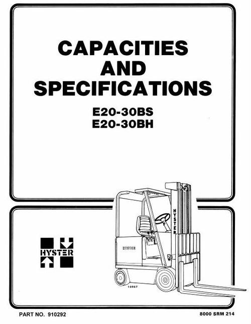 Free Hyster Electric Forklift Truck Type D138: N40FR