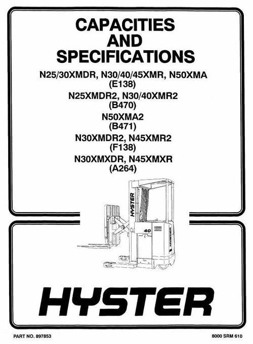 Free Hyster N30xmr2, N40xmr2, N25xmdr2, N50xma2 Electric