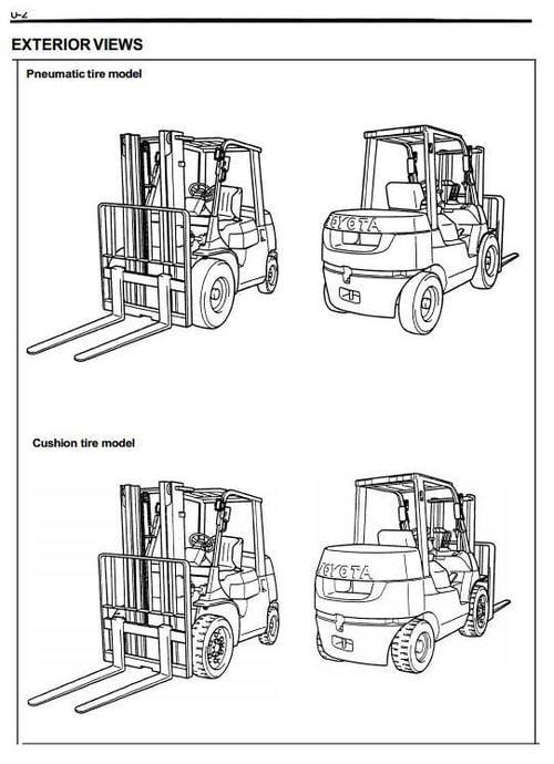 Toyota Diesel Forklift Truck Type 7FDU: 7FDU15, 7FDU18