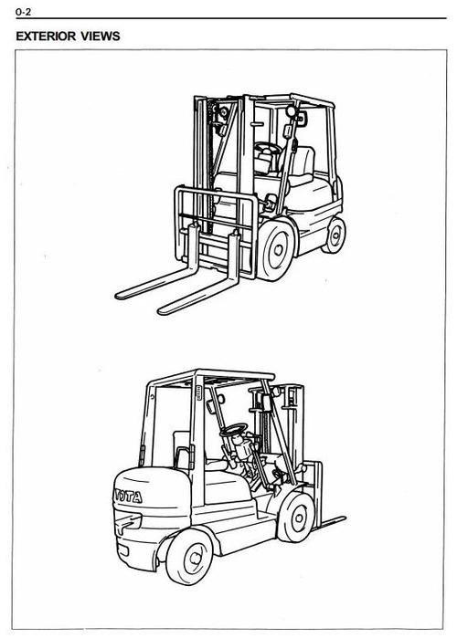 Free Toyota Diesel Forklift Truck: 5FDC20, 5FDC25, 5FDC30