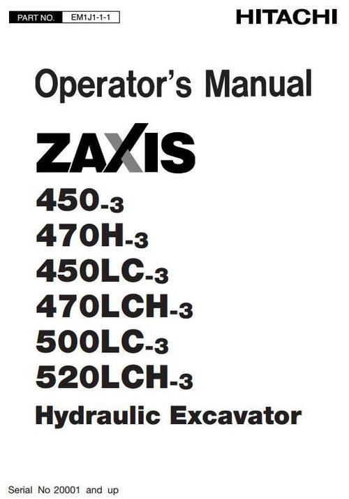 Free Hitachi Zaxis 650-3 Hydraulic Excavator Service