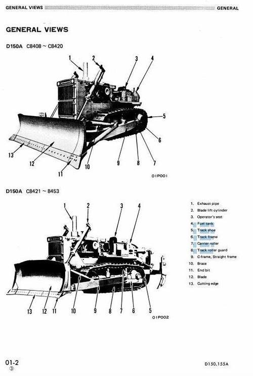 Free Komatsu Crawler Dozers D155AX-5 sn:70001-80000