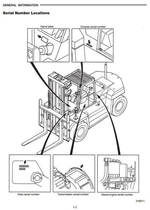 CAT Diesel Forklift Truck DP100, DP115, DP135, DP150
