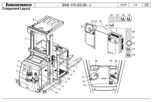 Jungheinrich Order Picker EKS 110 (03.2009-03.2015