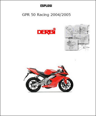 Derbi Gpr 50 Racing 2004-2005 Parts Catalogue Microfiche