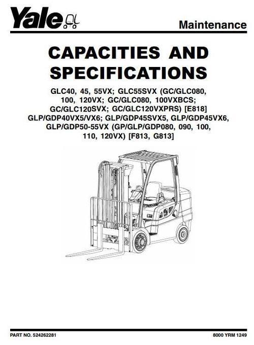 Yale LPG Forklift Truck F813 Series: GP080VX, GP090VX