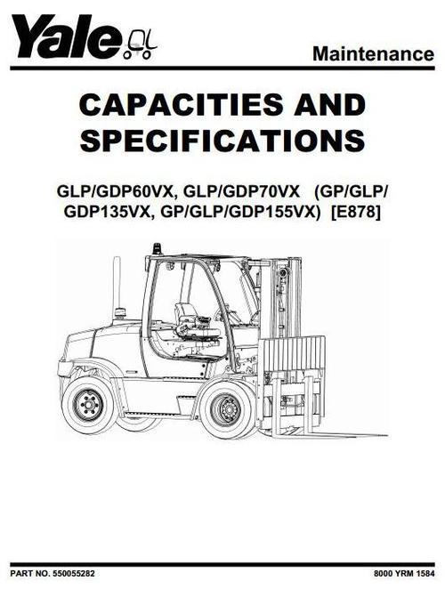 Yale Diesel/LPG Forklift Truck E878 Series: GDP135VX
