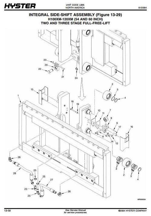 Hyster Forklift L005: H3.50XMS (H70XM), H3.75XMS (H80XM